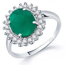 buy online rings images Grab online sukkhi moddish rodium plated cz studded emerald ring jpg