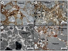 shearing of syn sedimentary carbonate breccia along strike slip
