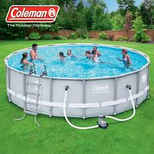 Ideas Cozy Round Pool Family Kids With Sand Pump Filter And Ladder
