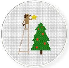 christmas star cross stitch pattern daily cross stitch