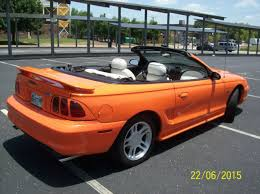 1996 Mustang Gt Interior Bright Tangerine 1996 Mustang Gt Convertible 47 000 Miles