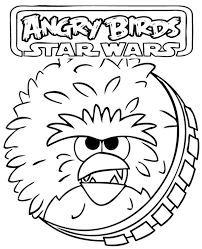 angry birds chewbacca print color free