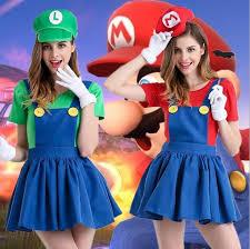 halloween super mario costume women luigi costume clothing