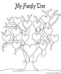 printable tree template kids coloring
