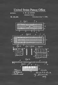 cribbage board patent patent print game room decor cribbage