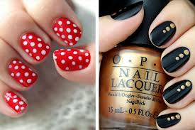 Easy DIY Nail Art Ideas For Beginners TheFashionSpot - Easy at home nail designs