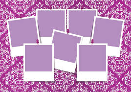 colorful damask photo collage template 10543 dryicons