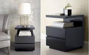 modern nightstands black