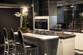appliances amusing black contemporary one wall kitchen amusing black contemporary one wall kitchen contemporary cabinet led under cabinet lighting ceramic induction cooktop acrylic sink pulldown faucet