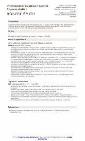 customer service representative resumes international customer service representative resume sles