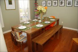 kitchen table oval with bench seating glass live edge 6 seats