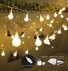 guirlande lumineuse pour chambre guirlande lumineuse mini balle makion light usb powered