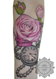 rose and pocketwatch tattoo by nebulatattoo on deviantart