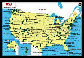 map us national parks map us national parks major tourist attractions maps
