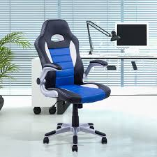 computer gaming desk homcom racing office chair swivel adjustable computer gaming desk