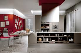 red kitchen accent wall ponyiex top