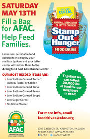 stamp out hunger food drive afac