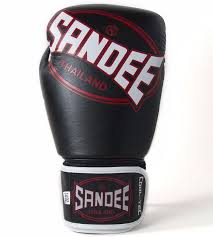 sandee cool tech boxing gloves black red