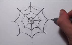 how to draw a simple spider web youtube