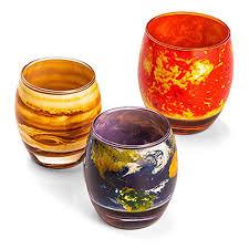 amazon com planetary glass set by thinkgeek mixed drinkware sets