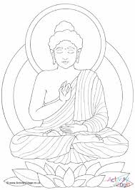 Buddha Colouring Page Buddhist Coloring Pages