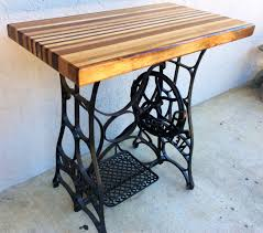 butcher block tables lead what a awesome butchers table refurbished 1920s new home sewing machine butcher block table