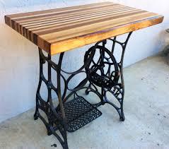 refurbished 1920s new home sewing machine butcher block table refurbished 1920s new home sewing machine butcher block table