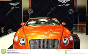 orange bentley orange bentley exotic car 2015 canadian international autoshow in