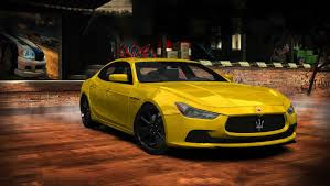 maserati yellow need for speed most wanted maserati ghibli s u002714 nfscars