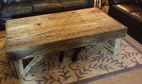 plush reclaimed wood coffee table