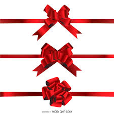 ribbon bow isolated 3d ribbon bow vector