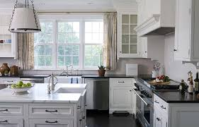 gray kitchen cabinets with black stainless steel appliances dishwashers transitional kitchen alisberg