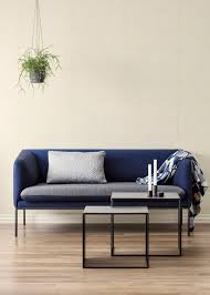 turn sofa 3 couch ferm living ferm living couch turn sofa wool mix light grey w dark