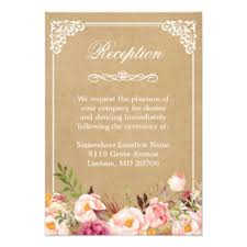 wedding reception cards floral wedding reception gifts on zazzle