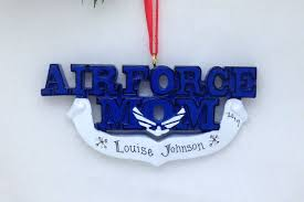 air force mom personalized christmas ornament air force ornament