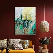 Handmade In New York - muya handmade paintings for living room wall wall painting on
