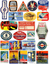 Iowa travel stickers images 23 vintage travel luggage labels digital download clipart retro jpg