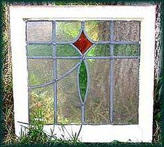 Antique Stained Glass Door vtg antique art nouveau leaded stained glass door old frame