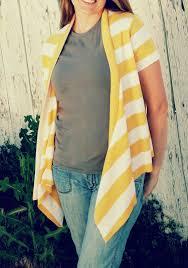 Drape Cardigan Pattern Short Sleeve Drape Front Cardigan