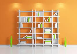 White Bookcase Ideas with Orange Walls White Bookcase Ideas Download 3d House