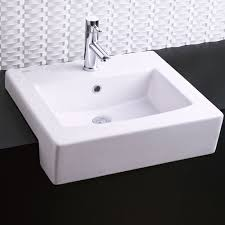 wide basin bathroom sink minimalist boxe semi countertop bathroom sink american standard at