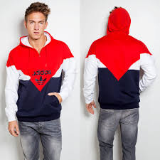 adidas colorado half zip blue red hoodie on the hunt