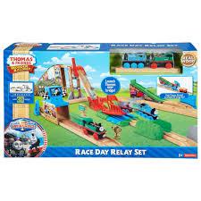 thomas u0026 friends wooden railway race day relay set walmart com