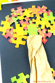 how to make a lovely fall tree craft easy puzzle tree natural
