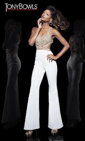 prom jumpsuit tony bowls tb11628 strappy bodice formal jumpsuit novelty