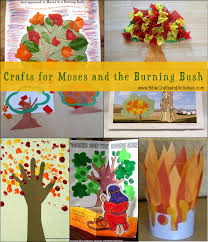crafts for moses and the burning bush www