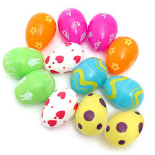 fillable easter eggs beautiful design 12pcs mix colored plastic empty fillable easter