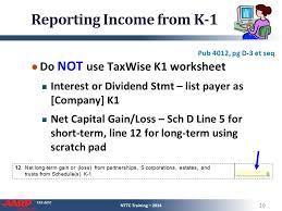 schedule k 1 entire lesson pub 4491 u2013 part 3 nttc training u2013 ppt