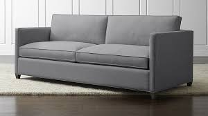 Gray Modern Sofa Dryden Gray Modern Sofa In Dryden Sleepers Reviews Crate And