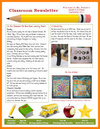 5 classroom newsletter template assembly resume